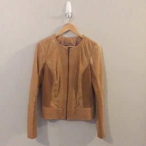 Nordstrom's Trouve Tan Leather Jacket Size Large